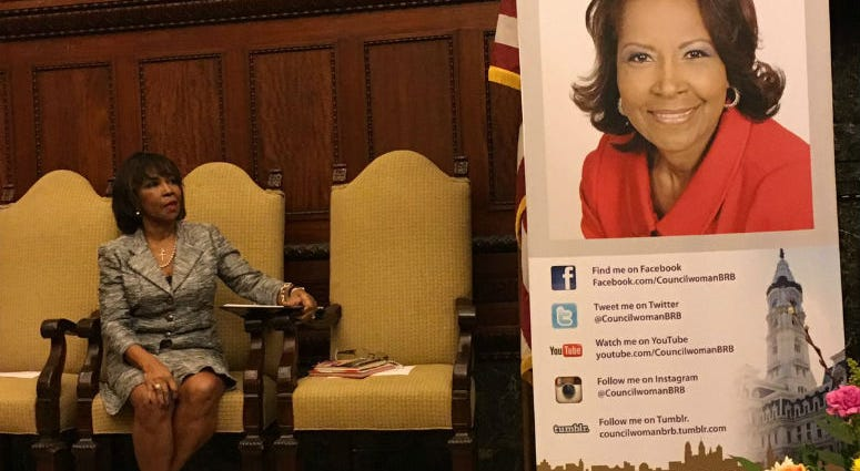 Councilwoman Blondell Reynolds Brown has withdrawn as a co-sponsor of the bill to reduce the sweetened beverage tax.