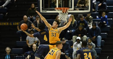 Drexel junior forward James Butler (#51) has seven double-doubles this season.