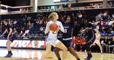 Drexel senior forward Bailey Greenberg leads the team in scoring and rebounding.
