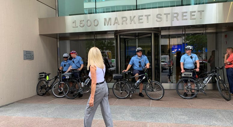 Protestors converged on the Centre Square building in downtown Philadelphia Wednesday. They were the first to be drawn there by the presence of Joe Biden's campaign headquarters, and they are unlikely to be the last.
