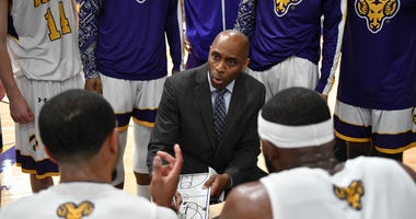 Damien Blair is in his tenth season as West Chester University's men's basketball coach.