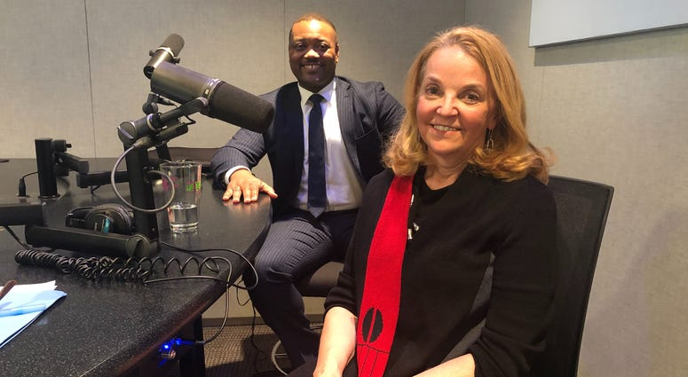This week's panel includes political analyst David Dix (left), Represent PA executive director Christine Jacobs, and KYW special contributor Larry Kane (not pictured).