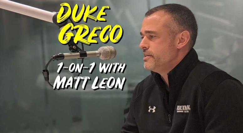 Delaware Valley University head coach Duke Greco.