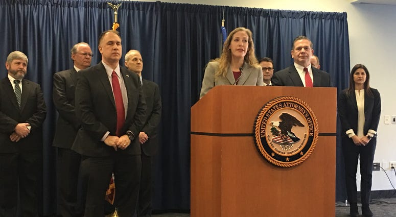 Jennifer Arbittier Williams, first assistant U.S. Attorney, discusses the federal indictment at a press conference involving John Dougherty and Bobby Henon.