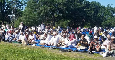 Thousands of Muslims from across the Delaware Valley come together for a massive Eid in the Park celebration of faith and community.