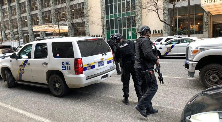 Center City police barricade