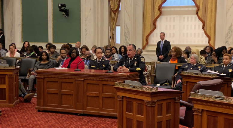Philadelphia Police Commissioner Danielle Outlaw at her first City Council hearing.
