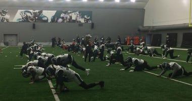 Eagles training