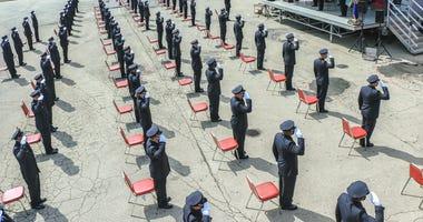 Philadelphia Fire Academy's 197th class had a socially distant graduation ceremony.