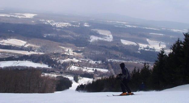 Skiing on Elk Mountain