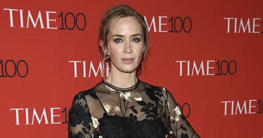 In this April 24, 2018, file photo, Emily Blunt attends the Time 100 Gala celebrating the 100 most influential people in the world at Frederick P. Rose Hall, Jazz at Lincoln Center in New York.