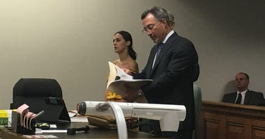 Defendant Emily Weinman and defense attorney Steve Scheffler