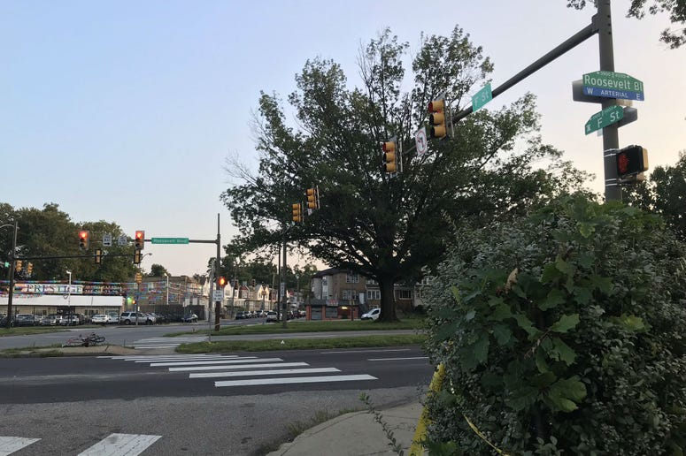The scene of a July 25, 2019, hit and run accident on Roosevelt Boulevard.