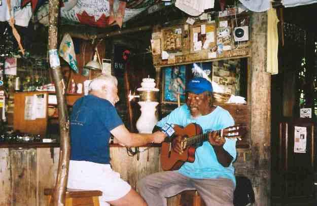 Foxy's Tiki bar in the Virgin Islands