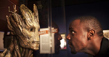 "A bust of the character Groot, created for Marvel Studios' ""Guardians of the Galaxy."" It will be on display at The Franklin Institute April 13."