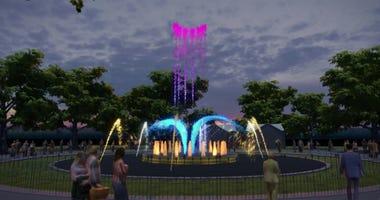 Franklin Square Fountain Show