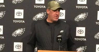 Eagles head coach Doug Pederson addresses the media in advance of Sunday's showdown with the Seattle Seahawks.
