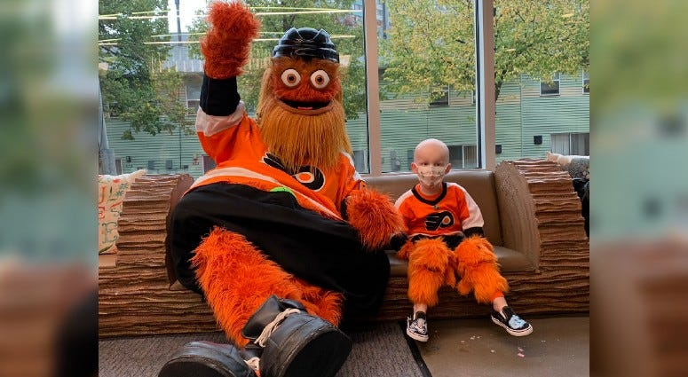 Gritty and Jack Callahan at Callahan's birthday party.
