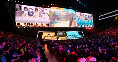 NEW YORK, NY - JULY 27: A view of the crowd at Overwatch League Grand Finals - Day 1 at Barclays Center on July 27, 2018 in New York City.
