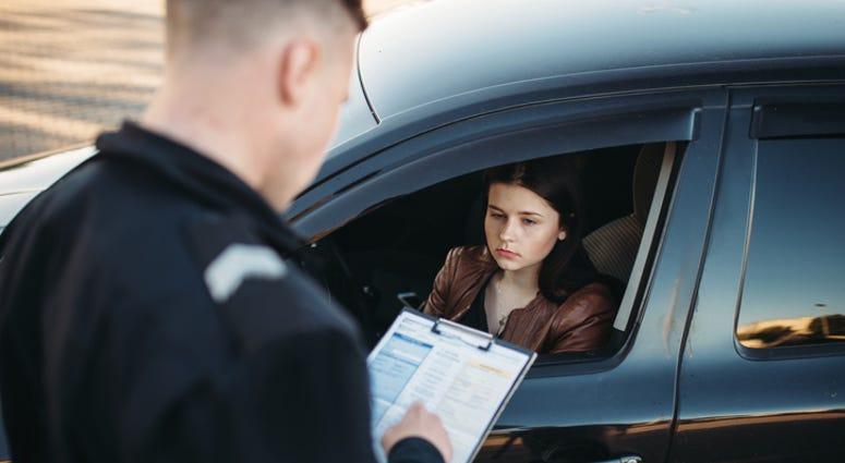 Speeding ticket.