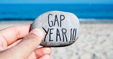 Rock saying Gap Year