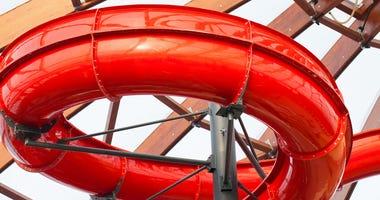 Indoor waterpark slide