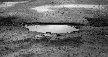 A pothole.