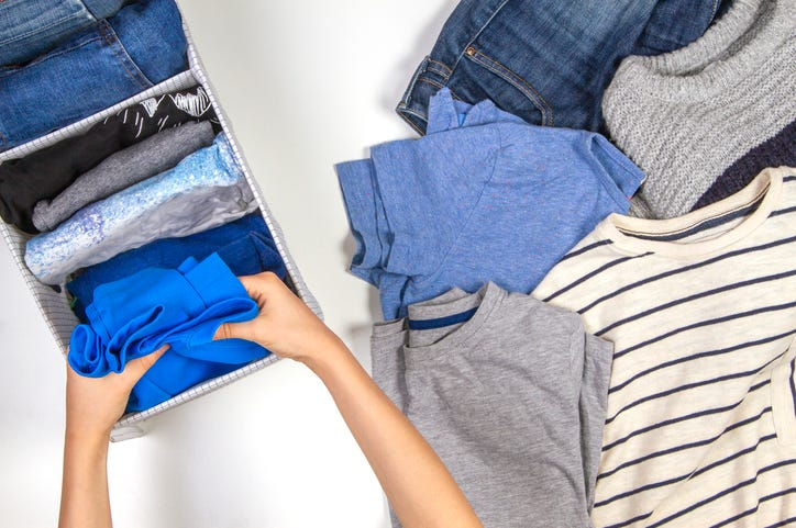 If you're finally getting around to cleaning your closets and drawers, you aren't the only one