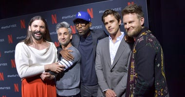 "Jonathan Van Ness, Tan France, Karamo Brown, Antoni Porowski, and Bobby Berk attend the Netflix FYSEE ""Queer Eye"" panel and reception at Raleigh Studios on May 16, 2019 in Los Angeles, California."