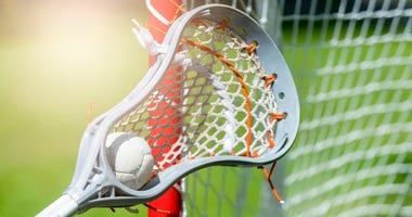 A lacrosse stick.