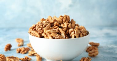 A bowl of walnuts.