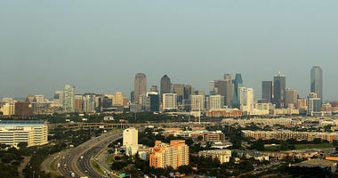 A general view of the skyline of downtown Dallas, Texas