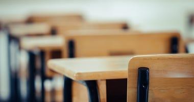 Empty classroom seats