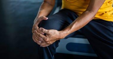 A knee injury.