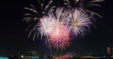 Fireworks in Philadelphia.