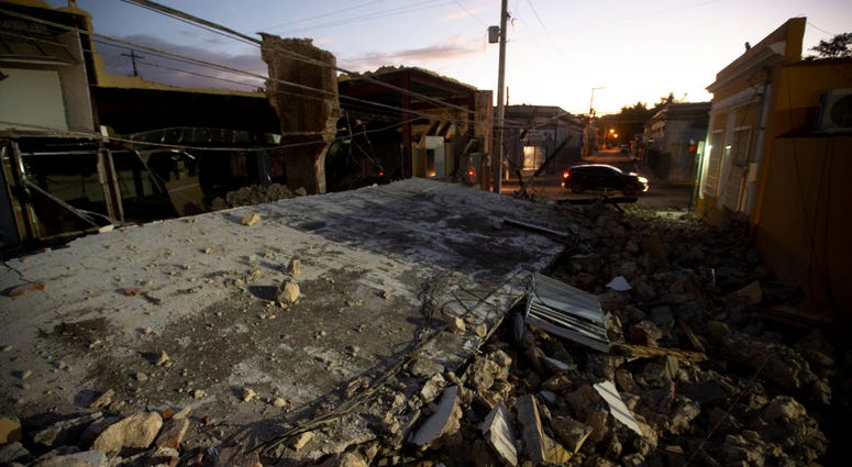 An earthquake destroyed building on January 11, 2020 in Guayanilla, Puerto Rico.