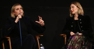 "Director Greta Gerwig and star Saoirse Ronan attend the American Cinematheque Screening Q&A Of Columbia Pictures' ""Little Women"" at the Egyptian Theatre on January 03, 2020 in Hollywood."