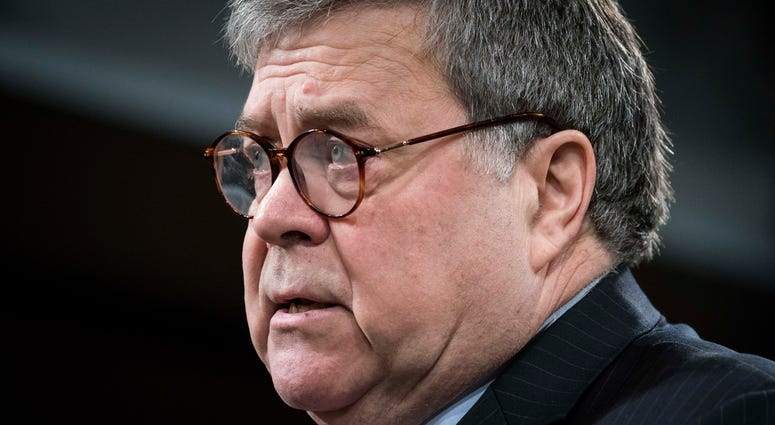 Attorney General William Barr participates in a press conference at the Department of Justice on February 10, 2020 in Washington, D.C.