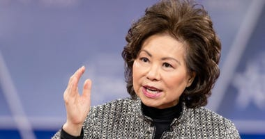 Secretary of the Department of Transportation Elaine Chao speaks during the Conservative Political Action Conference 2020.
