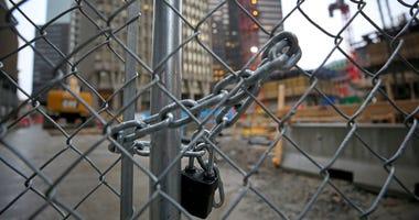 Construction site closes due to coronavirus