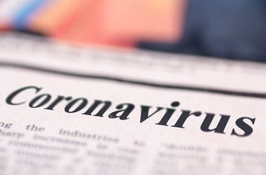 Coronavirus written on a newspaper
