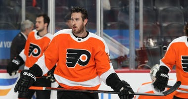 Kevin Hayes #13 of the Philadelphia Flyers