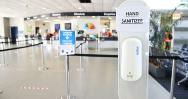 Hand sanitizer at airport