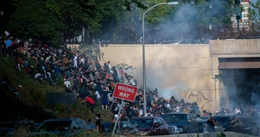 I-676 protesters hit with tear gas
