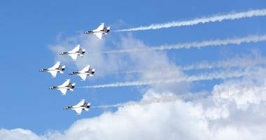Thunderbirds flyover