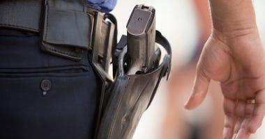 cop with gun