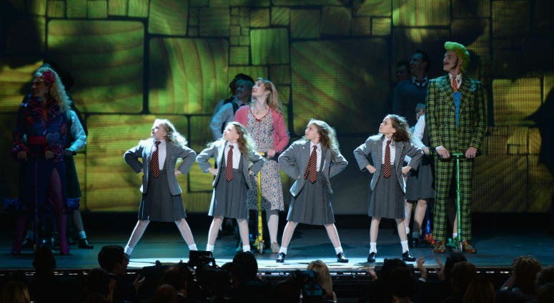 """9: The cast of """"Matilda The Musical"""" performs onstage at The 67th Annual Tony Awards."""