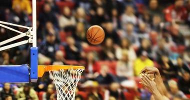 A basketball game.