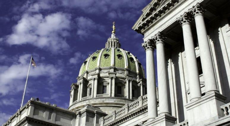 Pennsylvania capitol building in Harrisburg