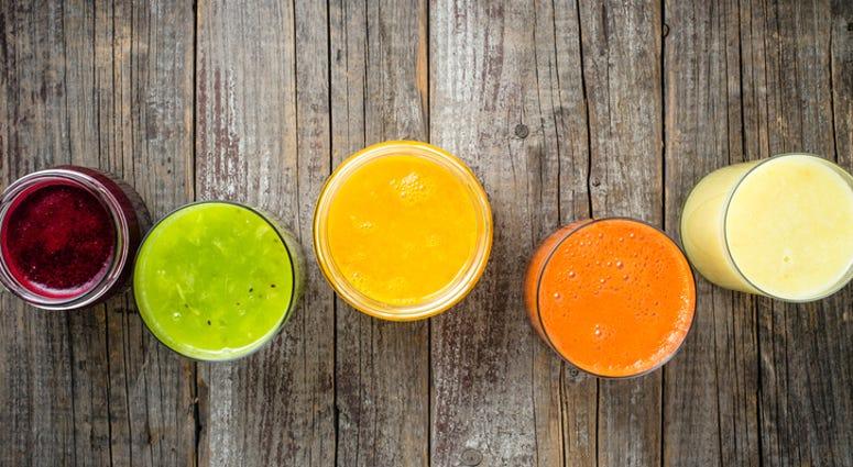 Fruit juices.